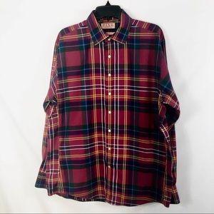 Thomas Pink Men's Plaid Button Down Shirt